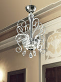 Clear Italian glass Bolero Venetian-style chandelier by Gallery