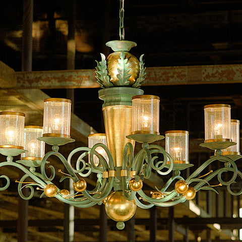 Single Tier Iron Chandelier