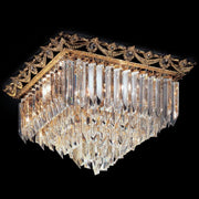 Lead crystal or Murano glass prism light with ornate frame