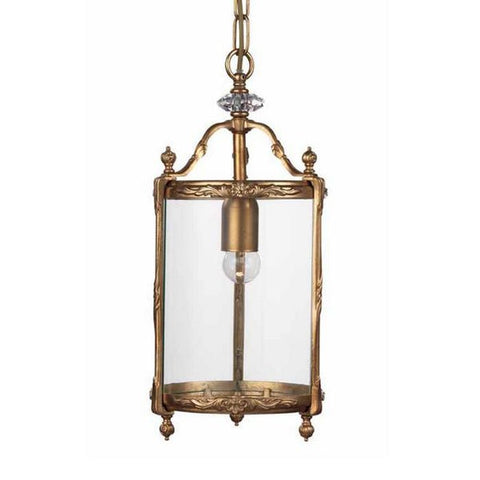 Gold & Glass Hanging Ceiling Lantern with Swarovski Elements