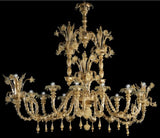 Gorgeous gold Murano chandelier in the Rezzonico style