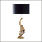 Leaf-style table lamp with Swarovski Elements crystals
