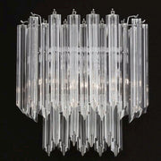 Clear Murano prismatic glass wall light