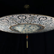 Two metre Murano glass Fortuny style ceiling light