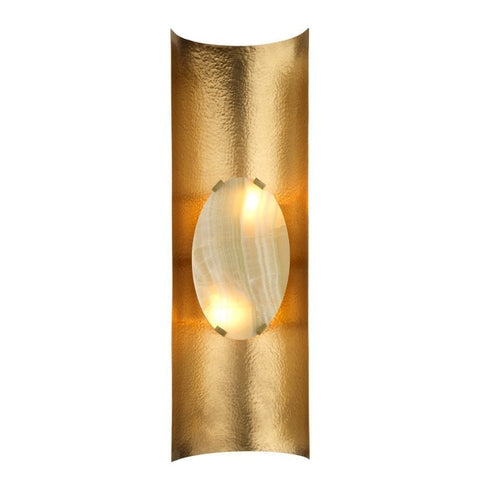 Art Deco Textured Brass Wall Light