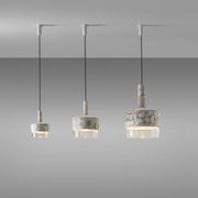 Moulded concrete pendant lamps