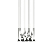 Modern Black Modular Cluster Ceiling Light