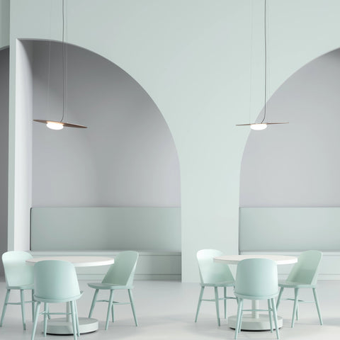 Kwic Metalic Ceiling Pendant with Opaline Blown Glass Diffusor