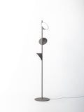White, sand and anthracite grey Scandinavian style floor lamp