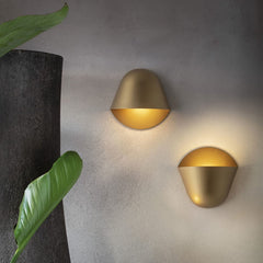 Matt metal wall lights