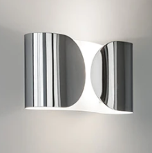 Foglio chrome wall lamp from Flos