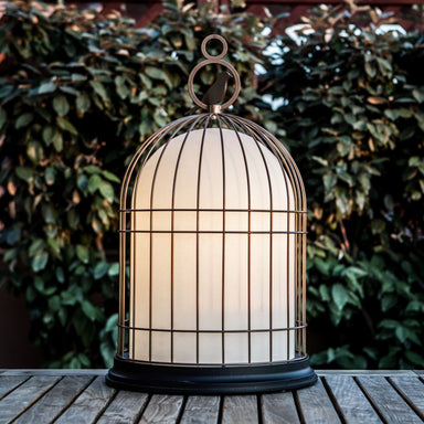 Contardi Freedom Wireless Table Lamp | Outdoor Battery Powered Lantern Fibreglass