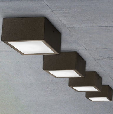Minimal Modern Square Ceiling/ Wall Light | simple contemporary exterioir wall and ceiling light | Italian lighting