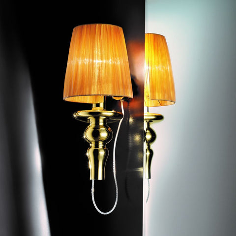 Gadora chic blown glass wall lamp