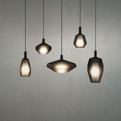 Collection of hanging glass pendant lights