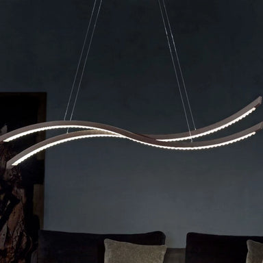 Modern Curved Double Ceiling Pendant