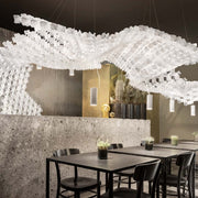 Nuvem by Slamp, unique modular Suspension chandelier, floating ceiling design