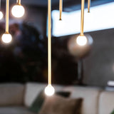 Thin stemmed ceiling pendant lights
