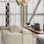 Customizable Metal Disc Floor Lamp