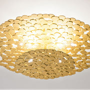 Tresor gold or silver plated disc ceiling light  from Terzani