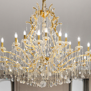 Large crystal Maria Therese showcase chandelier
