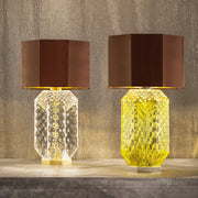 Modern Hand Blown Murano Glass Table Light in Two Colours with Lamp Shade