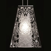 Vicky lead crystal and chrome single pendant from Fabbian