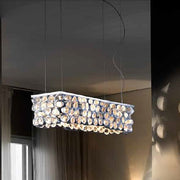 Modern silver leaf ceramic ceiling light