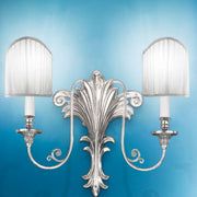 Wall Sconce in Antique Silver Plate Finish