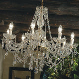 Classic 24% lead crystal chandelier from Italy with 8 lights