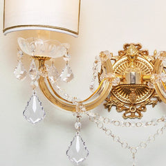 Two light  Maria Theresa crystal chandelier wall lamp