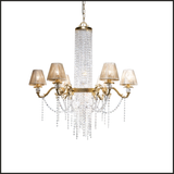 Gold chandelier with Swarovski Elements crystals