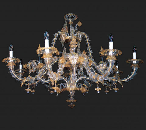8 Light Murano Glass Chandelier