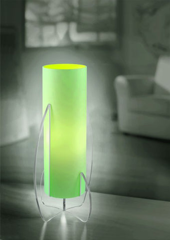 'Arca' green, orange or amber table light by Micron