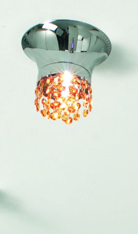 Swarovski crystal ceiling light with colour choice
