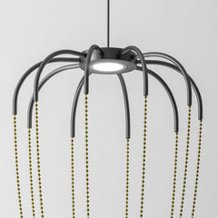 Alysoid 43 pendant light By Axo Light with brass or black chains
