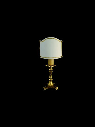 Traditional 24 carat gold plated brass table light