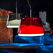 La Belle S5 red, grey or clear acrylic pendant from Prandina