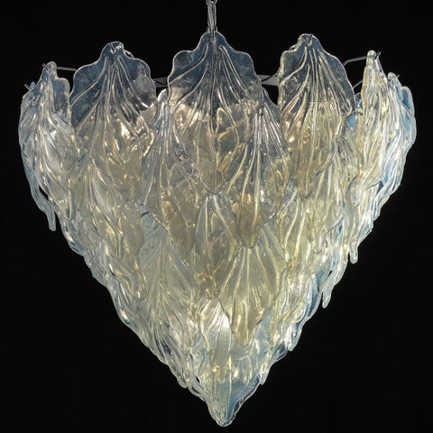 Pretty opaline 60s retro-style Murano glass chandelier