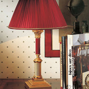 24 carat gold-plated table lamp with coloured enamel decoration
