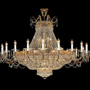 Large Spectra Swarovski gold-plated empire chandelier
