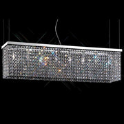 Modern dining table chandelier with coloured lead crystal