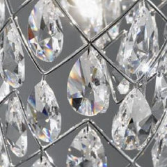 Swarovski crystal and chrome ceiling light