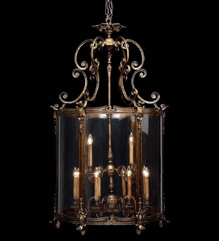 12 Light French Gold Lantern