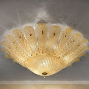 Amber Glass Ceiling Light