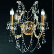 Gold Plated Crystal Glass Wall Light