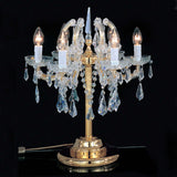 Maria Theresa 6 light chandelier-style Italian table lamp