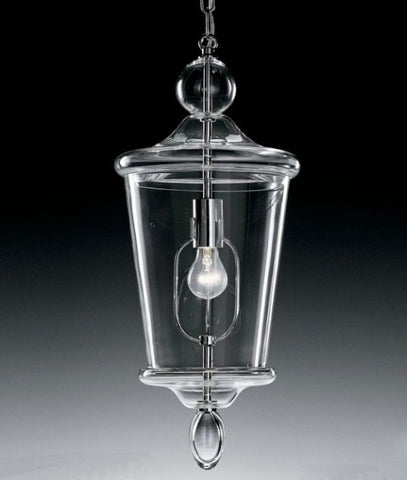 Clear modern Murano glass ceiling lantern