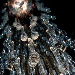 450 cm tall Murano glass Goccia stairwell chandelier