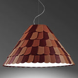 Fabbian Roofer brown green grey white rubber cone pendant